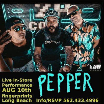 Pepper Fingerprints Music Live In-Store Performance Poster