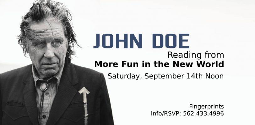 John Doe More Fun in the New World Fingerprints Music Live Book Reading Poster