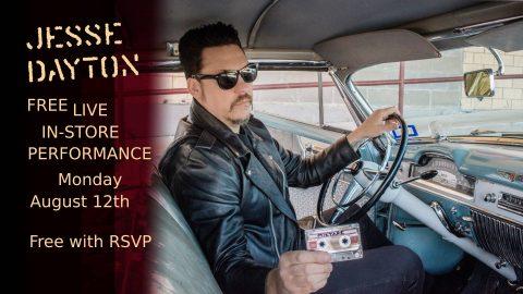 Jesse Dayton Fingerprints Music In-Store Live Performance Poster