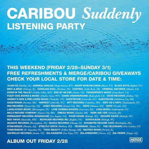 Caribou Suddenly Fingerprints Music Listening Party