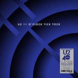 "U2 - 11 O'Clock Tick Tock (12"") - Single, B-side, and 2 live tracks. Transparent blue vinyl. Gatefold sleeve"