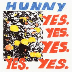 Hunny - Yes Yes Yes Yes Yes (LP) - The band's debut album from 2019 , available on vinyl for the first time. Translucent Blue LP.