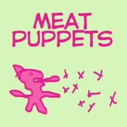 """Meat Puppets - Meat Puppets (10"""")  - Unreleased tracks recently recorded - includes one cover. Green in pink colored vinyl."""