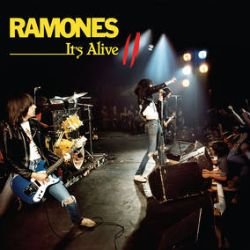 """The Ramones - It's Alive II (LP) - Double heavyweight, numbered live vinyl with a """"Gabba Gabba Hey"""" sign etching on side 4."""