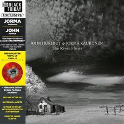 John Hurlbut and Jorma Kaukonen - The River Flows, V.1 (LP) - New album in gatefold jacket, with signed 12-pg booklet, including interview. On Translucent red splatter vinyl. <br> (RSD059)