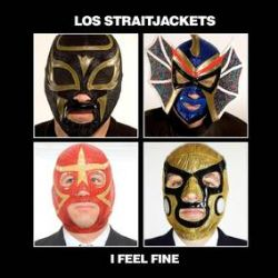 """Los Straitjackets - Beatles vs. Stones (7"""") - Battle royale with one side hosting the Fab's I Feel Fine & the other the Stones' Time Is On My Side, both with a Straitjacket spin. <br> (RSD080)"""