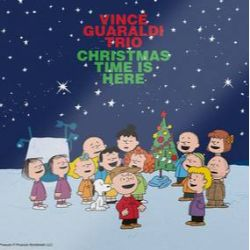 """Vince Guaraldi Trio -  Christmas Time Is Here (7"""") - First 7"""" single from A Charlie Brown Christmas. B-side is an alt take never on vinyl. Green vinyl. <br> (RSD128)"""