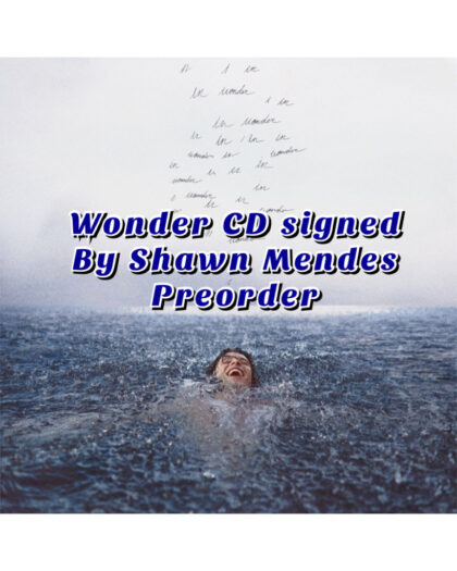 Wonder by Shawn Mendes signed CD pre-order