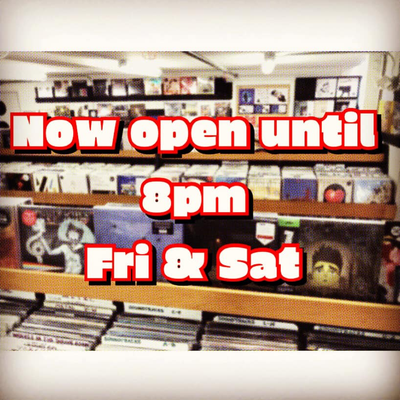 Now Open until 8 pm on Fridays and Saturdays