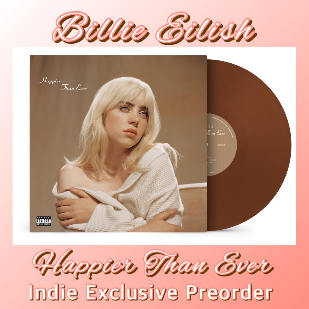 Billie Eilish - Happier Than Ever - Indie Exclusive Dark Brown LP - Preorder