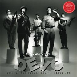 """Devo - Somewhere With Devo (LP) - The """"Somewhere With Devo"""" suite was performed live, one night only, as the encore of the band's Total Devo concert at The Palace in Hollywood, CA 12/9/88. The Devo re-mix set by DJ Kinky from 2010, also included here, was never released previously. (RSD244)"""