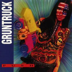 """Gruntruck - Push  (2LP) - Previously released on vinyl only in Europe and Brazil, this expanded version has two never-on-LP tracks (""""Crucifunkin'"""" and """"Flesh Fever"""") that the band recorded in between the sessions for Push and their first album, Inside Yours,. Housed inside a gatefold jacket. Clear with opaque red and yellow swirl vinyl, limited to 2500 copies. (RSD278)"""