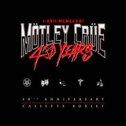 Motley Crue - 40th Anniversary Cassette Box Set  (Cassette Box) - An exclusive set of five cassettes to commemorate the band's 40th Anniversary. This set includes their core catalog titles (Too Fast for Love, Shout at the Devil, Theatre of Pain, Girls, Girls, Girls, and Dr. Feelgood) with artwork. (RSD332)