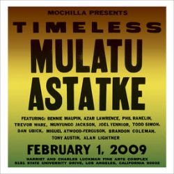 Mulatu - Mochilla Presents Timeless: Mulatu Astatke  (2LP) - Full color gatefold jackets with the vinyl housed in printed inner sleeves. In 2009, the sold out crowd at the Luckman witnessed the famed Ethiopian artist perform with veterans of the Los Angeles jazz community including Bennie Maupin, Azar Lawrence, Phil Ranelin and more. (RSD336)