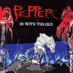 """Pepper - In With The Old  (LP) - Long out of print 12"""" vinyl of Pepper's 3rd album, In With The Old. Pressed on a translucent ruby red vinyl in single LP jacket limited to 1500 exclusivily for RSD. Special silver mirrorboard gatefold. (RSD358)"""