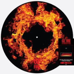 """U2 - Fire (12"""" Pic Disc) - The first single from U2's second album October, from 1981, with """"J Swallow"""" as the b-side. This 40th Ann Ed. includes both tracks on side A, plus two live recordings of 'Fire'  from 1982 on side B.Newly remastered. (RSD413)"""