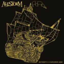 """Alestrom - Sunset On The Golden Age (LP Deluxe Version) - Includes new album artwork, with embossed gold foil , and a 12"""" art print. Black/Gold Splatter vinyl.  Ltd to 3000. (RSD203)"""