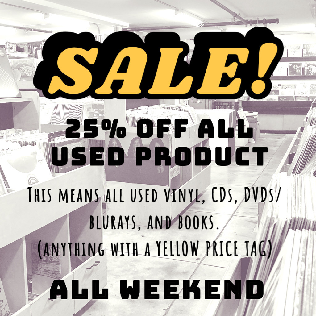 Sale All Weekend - 25% off all used products