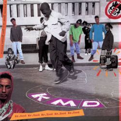 """KMD - Mr. Hood: 30th Anniversary Edition (2LP) - To commemorate its 30th year Get On Down presents """"Mr. Hood"""" in a never to be repeated tri-color pressing of the double LP. KMD (Kausing Much Damage, or a positive Kause in a Much Damaged society) was the early 90s Hip Hop group that served as a launching pad for the career of the artist we now know as MF DOOM (known during his KMD tenure as Zev Love X). (RSD2083)"""
