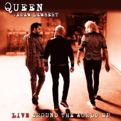 """Queen + Adam Lambert - Live Around the World / Love Me Like There's No Tomorrow (12"""") - 5-track EP to include 4 tracks from the 'Live Around The World' album, and 1 unreleased live track not on the album. 12"""" inch 180G vinyl / black vinyl / spined sleeve / black polylined inner bag / sticker / with bonus pink 7"""" of Freddie's Love Me Like There's No Tomorrow plus an instrumental version.  (RSD2123)"""