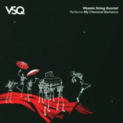 """Vitamin String Quartet - Vitamin String Quartet Performs My Chemical Romance (LP) - Talented classical musicians use violins, viola, and cello to transform My Chemical Romance's aggressive sound into string driven magic. Tracks such as """"Honey, This Mirror Isn't Big Enough for the Two of Us,"""" """"Helena,"""" and """"Hang 'Em High"""" resonate and shimmer with new fervor. The melodic heart of each song is uncovered in these stunning instrumental interpretations. (RSD2177)"""