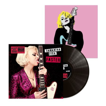 Samantha Fish Faster Indie Cover LP + poster