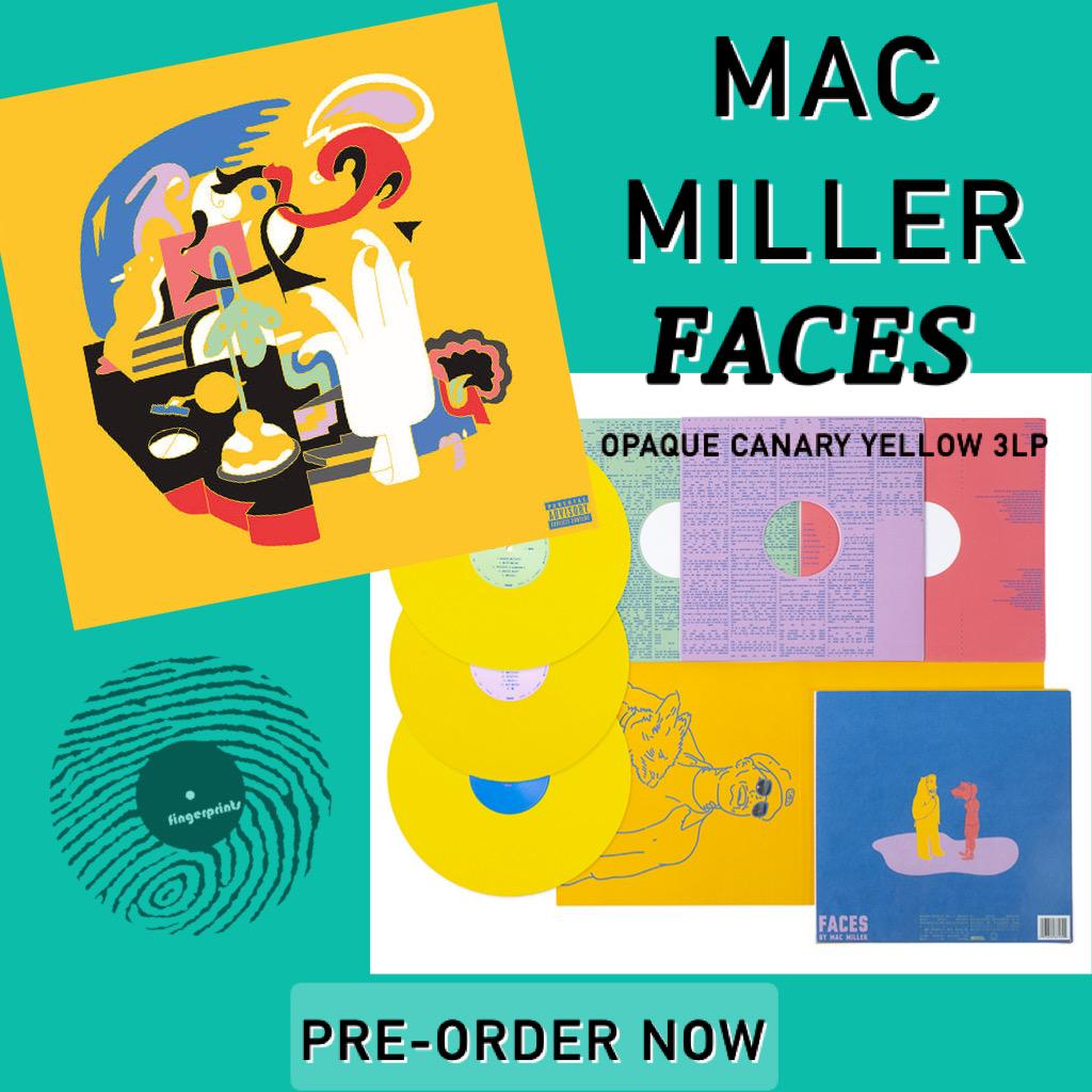 Mac Miller-Faces Opaque Canary Yellow 3LP Pre-Order